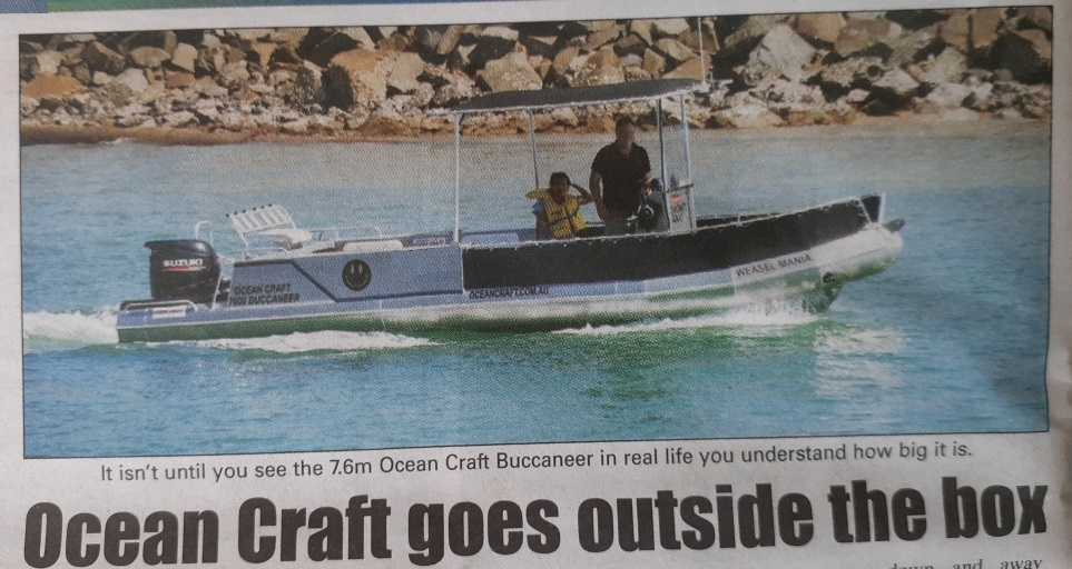 It isn't until you see the 7.6m Ocean Craft Buccaneer in real life you understand how big it is