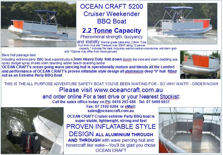 5.2M OCEAN CRAFT Cruiser extreme party BBQ boat