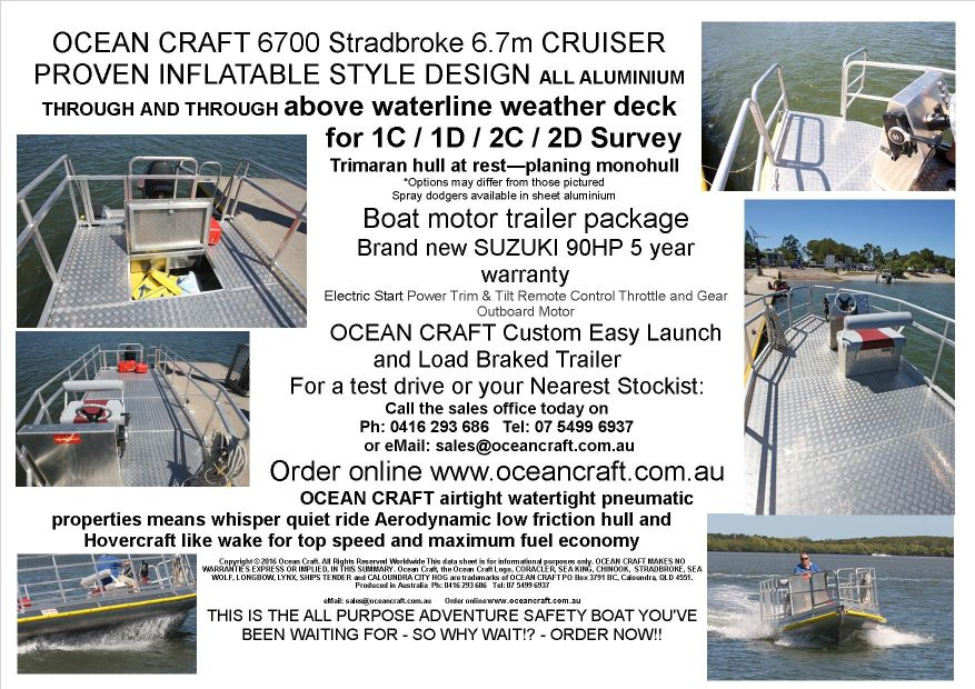 OCEAN CRAFT 6700 CRUISER Extreme BBQ Party Boat