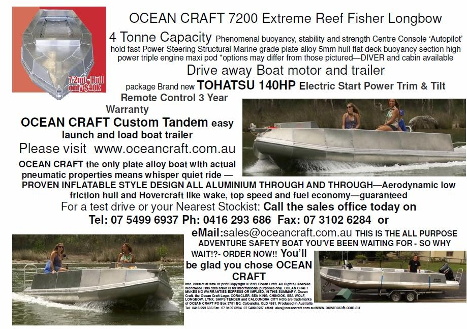 OCEAN CRAFT 7200 Reef Fisher BMT package deal
